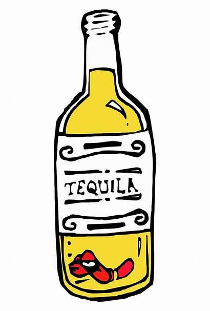 Alcohol Tequila Transparent Clipart Bottles Bottle Drink