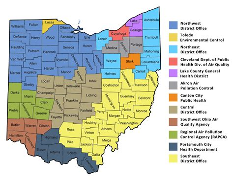 ohio epa district offices  local air pollution control