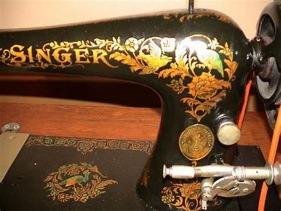 Singer 27 1901 Sewing Circa Pheasants Machines
