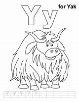 Yak Coloring Letter Pages Preschool Alphabet Practice Clipart Handwriting Worksheets Animal Printable Abc Actual Link Letters Crafts Craft Para Projects sketch template