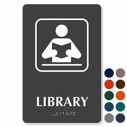 Library Signs Sign Graphic Door Braille Mydoorsign