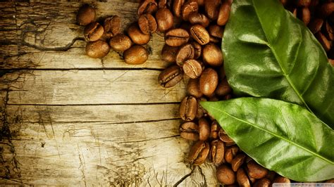 Download Coffee Beans And Leaves Wallpaper 1920x1080 French Press Type Coffee Makers Chicory En Espanol To Mirror Tray For Table Krups Maker Black Buy K Cup Community Cups