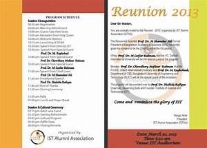 class reunion program template - reunion invitation wording