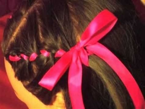 How to: cute flower girl wedding Hair Style Ribbon French