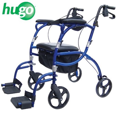 rollator walker transport chair combo hugo navigator combo rollator walker transport