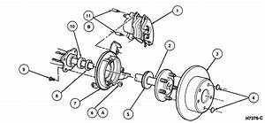 1995 Lincoln Town Car Front Brake Rotor Removal Diagram