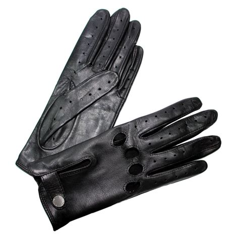 gant anti chaleur cuisine gants de conduite femme cuir noir glove fermés