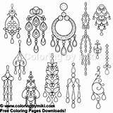 Earring Coloring Earrings Silhouette Jewelry Chandelier 1025 Vector Schmuck Ohrring 無料 Shutterstock Ausstellungsstand Od Bar Faerbung Ohrringe Seite Jewellery sketch template