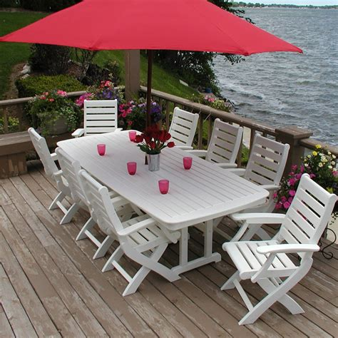 polywood outdoor dining set amish poly set