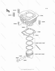 Kawasaki Atv 2000 Oem Parts Diagram For Cylinder  Piston S