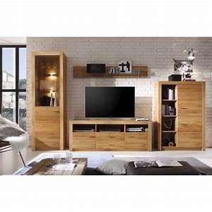 Meuble Tv Bois Design : ensemble meuble tv design en bois de chene avec eclairage malpensa 356 cm achat vente meuble ~ Preciouscoupons.com Idées de Décoration