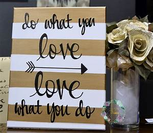 Do What You Love : do what you love striped inspirational painting ~ Buech-reservation.com Haus und Dekorationen