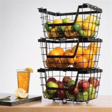 kitchen vegetable storage baskets new home kitchen wire fruit basket vegetable stacking 6379