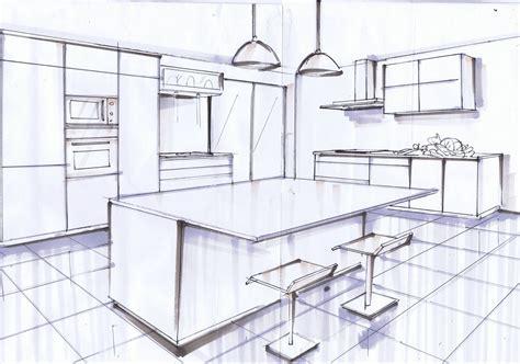 perspective cuisine dessin cuisine dessin en perspective facile les meilleures idã