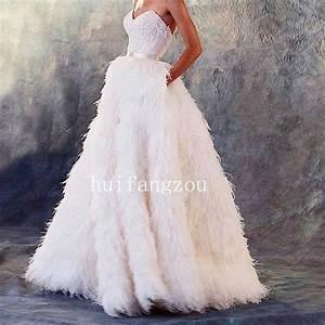 Ostrich feather wedding dresses formal bridal gowns for Feather wedding dress