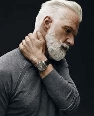 Hairstyles for Grey Hair Men with Beards