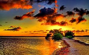 1920x1200 Two Seas One Shore Sunset desktop PC and Mac ...