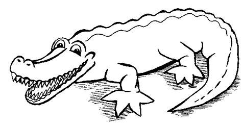 coloriages  imprimer crocodile numero