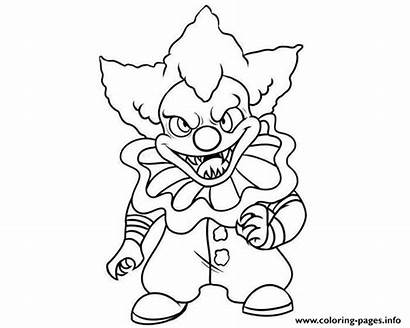 Pennywise Clown Coloring Pages Printable Scary Mini