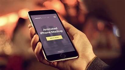 Mock Animated Iphone Phone Mockup Templates Behance
