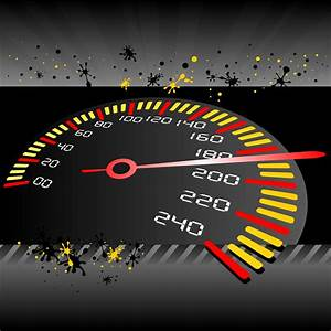 Vector for free use: Sport speedometer