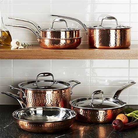 country kitchen ware lagostina martellata hammered copper 10 cookware set 2925