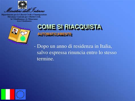www interno it cittadinanza italiana ppt la cittadinanza italiana powerpoint presentation