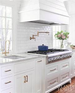 white mini beveled subway kitchen tiles transitional With best brand of paint for kitchen cabinets with metal ship wall art
