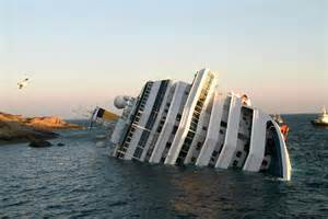 cruise ship sinking italy news together