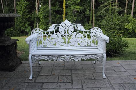 antique cast iron garden bench omero home