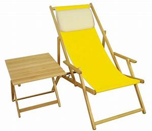 Erst Holz : strandstuhl gelb gartenliege strandliege deckchair tisch ~ A.2002-acura-tl-radio.info Haus und Dekorationen