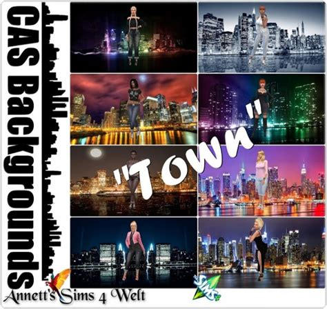 Sims 4 Background Annett S Sims 4 Welt Cas Backgrounds Quot Town Quot Sims 4