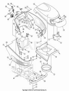 Mtd 13al606g730  2005  Parts Diagram For Hood