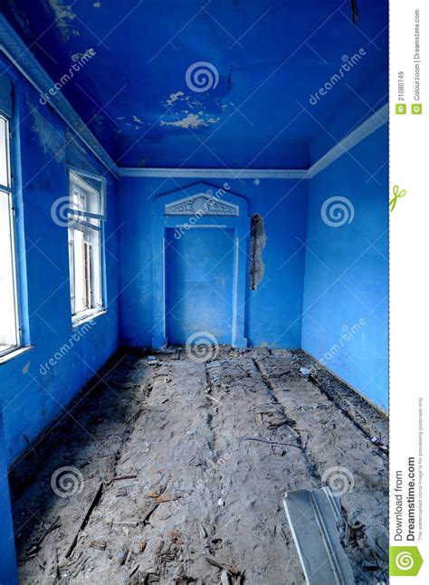 vintage blue room stock image image  arch decay