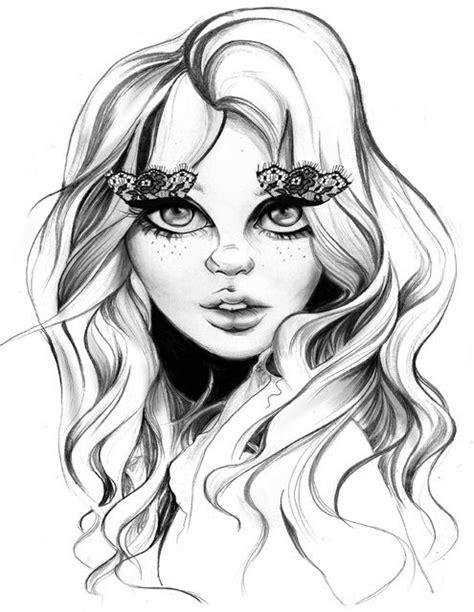 #garota #maquiagem #cílios #hair   Face illustration, Art, Illustration