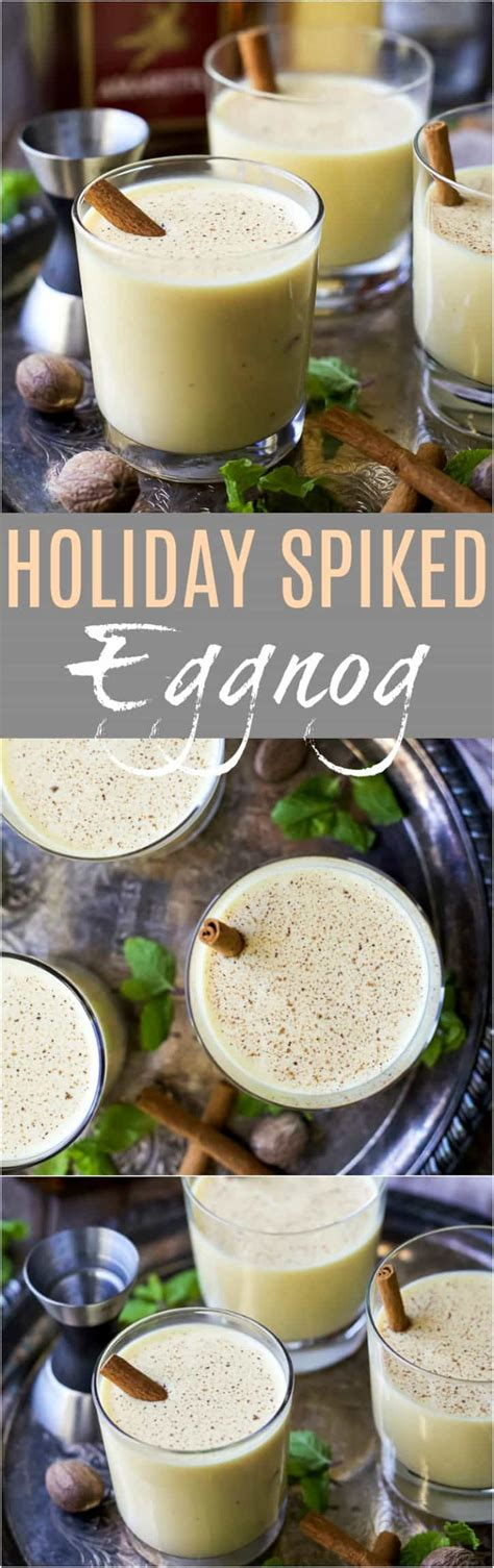 Finder's spirit of christmas pudding spiced rum. Holiday Spiked Eggnog | Easy Holiday Cocktail Recipe