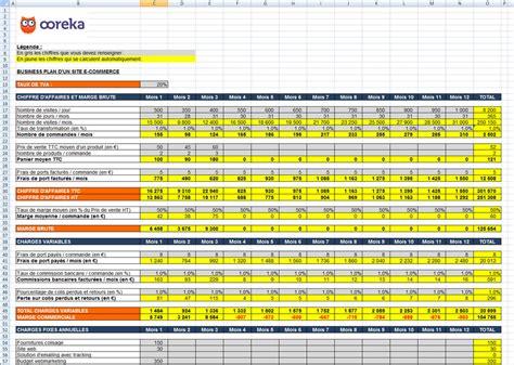 modele plan d commercial gratuit feuille de calcul business plan pour un site e commerce