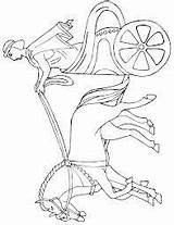 Chariot Roman sketch template