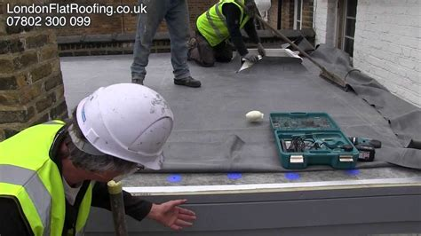 epdm rubber roof   insulation  warm roof youtube