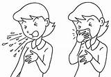 Cough Clipart Manners Coloring Coughing Sneezing Clip Sneeze Etiquette Cliparts Mouth Pages Sketch Template Measures Influenza Library Bad Drawing Throat sketch template