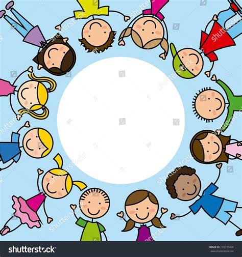 kids design  blue background vector stock vector