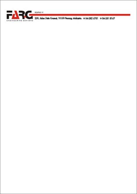 la vintage design  farg engineering sdn bhd letterhead