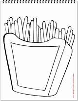 Coloring French Fries Emoji Character Cartoon Emoticon Snack Concept Characters Vector Illustration sketch template