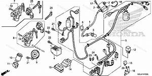 Honda Scooter 2013 Oem Parts Diagram For Wire Harness