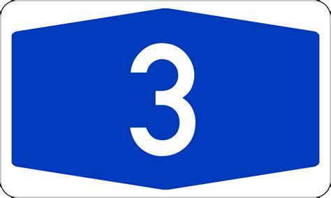Bundesautobahn 3 Number.svg