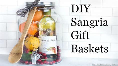 sangria gift basket  easy  effective gift  wow