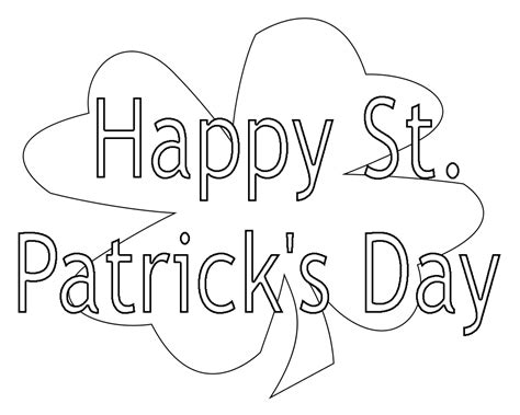 top  stpatricks day coloring pages freeprintable