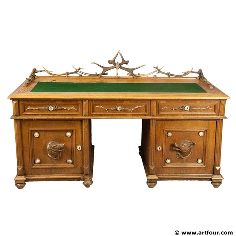 Large Oak Wood Desk With Antler Decorations, Austria Ca 1900. Opium Table. 3 Tier Plastic Drawers. Dresser With Jewelry Drawer. Custom Desk Design Ideas. Green Console Table. Wide Bedroom Chest Of Drawers. Antique Chest Of Drawers. Lamp With Table