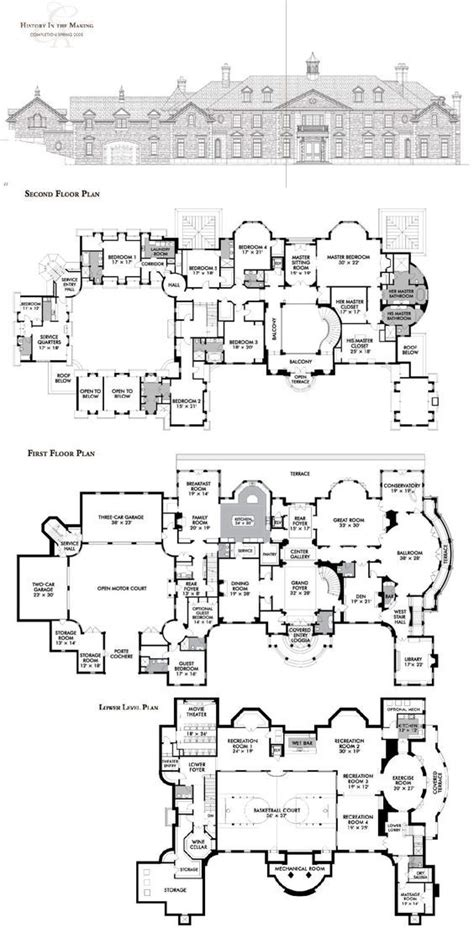 stone mansion estate  alpine nj mansion floor plan luxury house plans house plans
