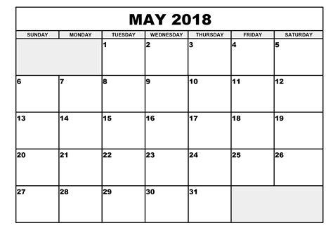 2015 Calendar Template With Holidays Printable Calendar 2018 May 2018 Calendar With Holidays Printable File Doc